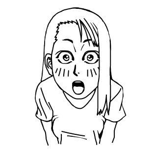 驚いた顔(イラスト)