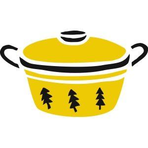 シチューの入った鍋(イラスト)