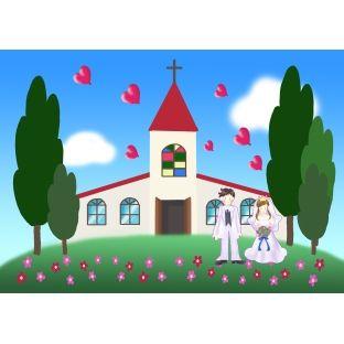 不幸な結婚式(イラスト)