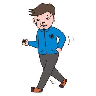 運動音痴のAが、突然猛ダッシュしてフェンスをよじ登り学校外に出ていった
