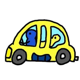 高速道路で横の車を見たら、運転席にハンドルを握る赤ちゃんがいた