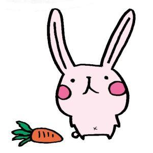 ペットのウサギ(イラスト)