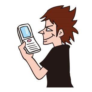 携帯依存症(イラスト)