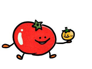テレビを見ていたら、彼が私にトマトを2つ投げつけた。。。