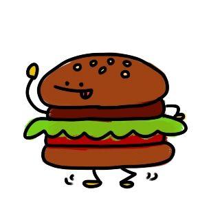 オジサンが『ハンバーガー下さい』と歩いてドライブスルーで注文してきた。
