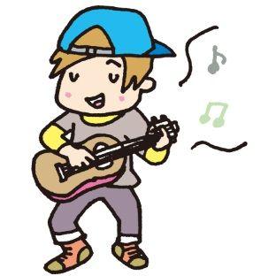 ギター弾き(イラスト)