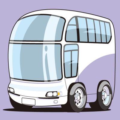 修学旅行のバス(イラスト)