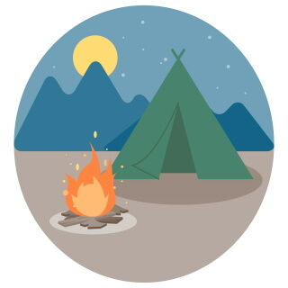【洒落怖】『キャンプ』…俺達は荷物をもって山道を進んでいったのだが、山道と言うものを少し甘く見ていた
