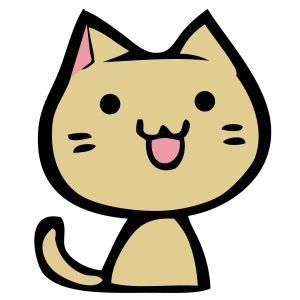 優しい猫(イラスト)