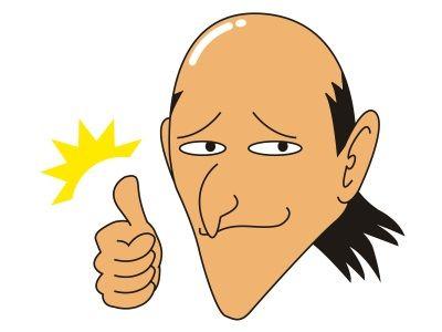 ホラ、僕の頭を見てごらん。ライトを浴びてピカピカ光っているだろう?