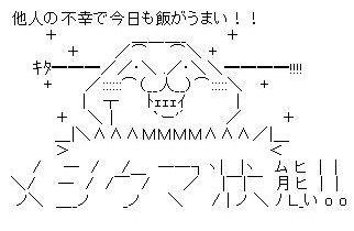 メシウマ状態 AA(アスキーアート)