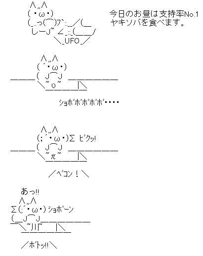 ヤキソバ AA アスキーアート