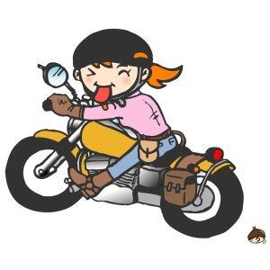 バイク乗り(イラスト)