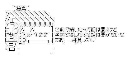 ラーメン桜鳥 AA(アスキーアート)