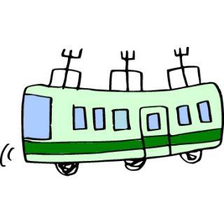 電車の旅(イラスト)