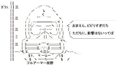 フルアーマー枝野 AA(アスキーアート)