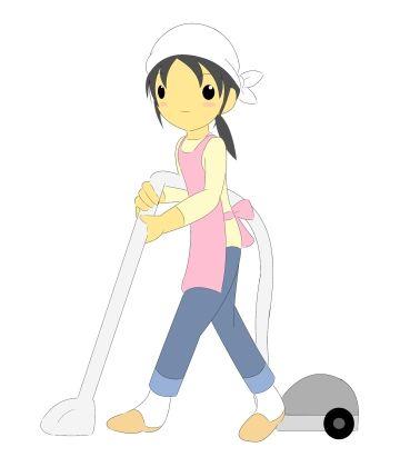 嫁が振り返って、掃除機のホースが俺の股間にヒット(/-_-\)