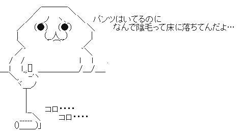 陰毛の掃除(コロコロ) AA(アスキーアート)