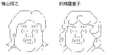 檜山修之 AA(アスキーアート)