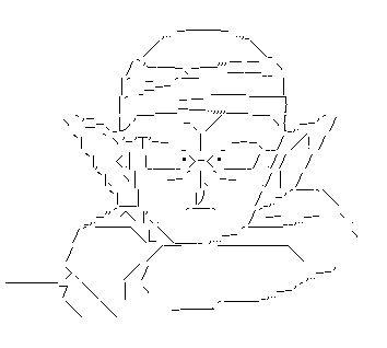 ピッコロ(ドラゴンボール) AA(アスキーアート)