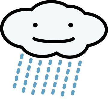 会議中のオフィス内に突然雨が降ってきた。
