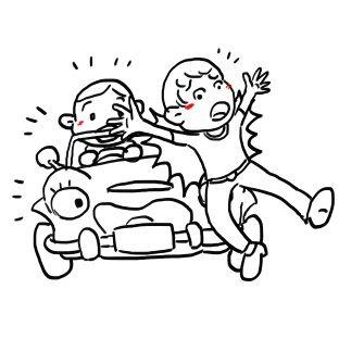 交通事故(イラスト)