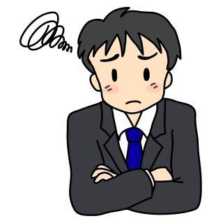 悩む男性(イラスト)