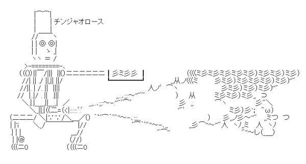 チンジャオロース AA(アスキーアート)