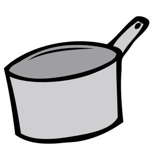 トメの頭に煮物の入った鍋をジャバーッとぶっかけ、鍋をそのまま頭にかぶせてやった