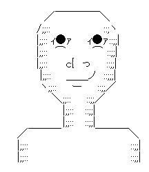 薄ら笑い AA(アスキーアート)
