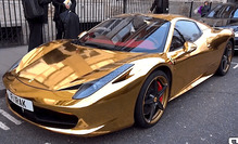 Gold-Ferrari-458spider-1