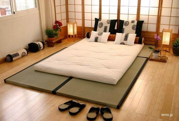 Un dormitorio tradicional japonés
