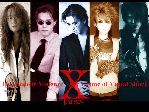 メンバー5人のそれぞれの写真が並んだX JAPANの画像
