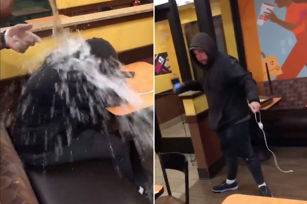 dunkin-donuts-water-on-homeless-person