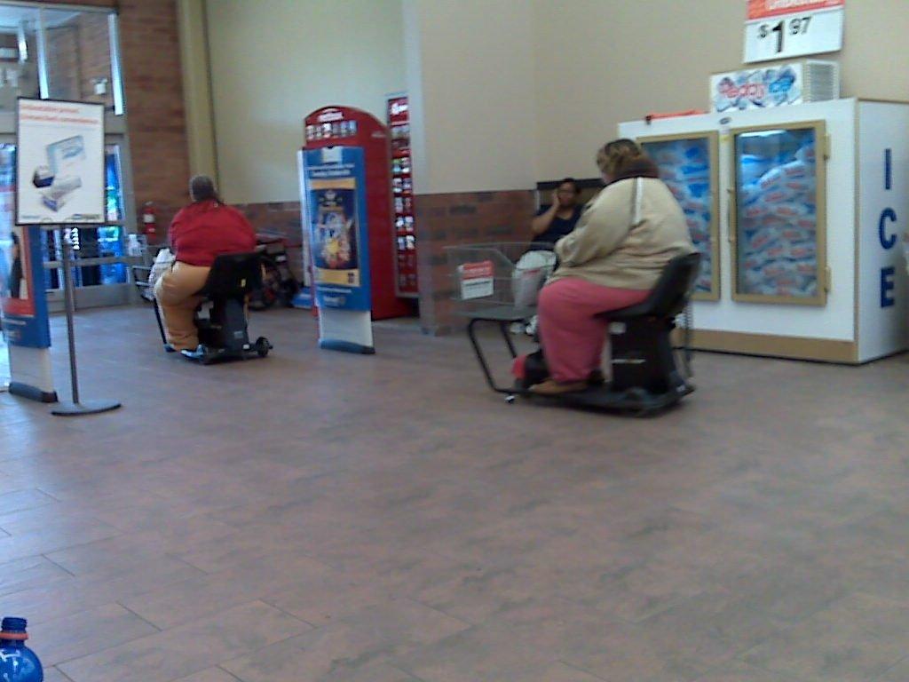 スーパー「障害者の方に電動カートを用意しました」 デブ12345「どけ!俺達が使うブヒー」