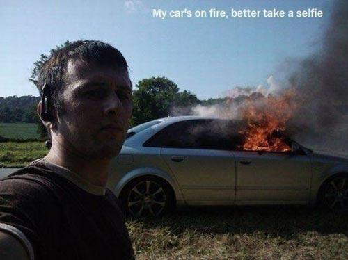 funny-selfie-car-on-fire